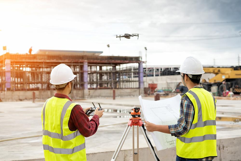 Location de drone avec opérateur.