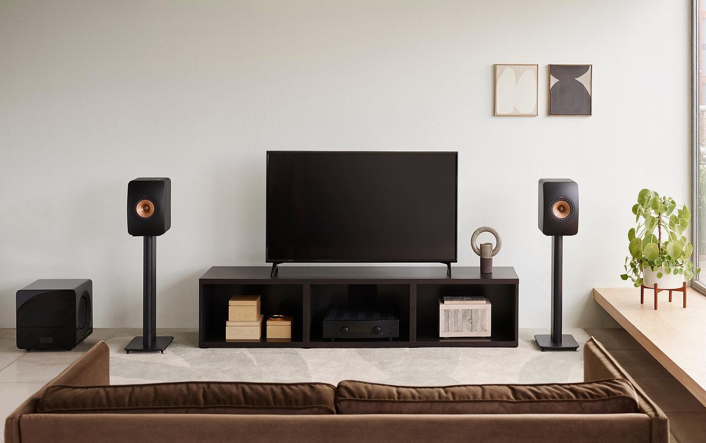 KEF LS50 Meta loudspeakers in black,