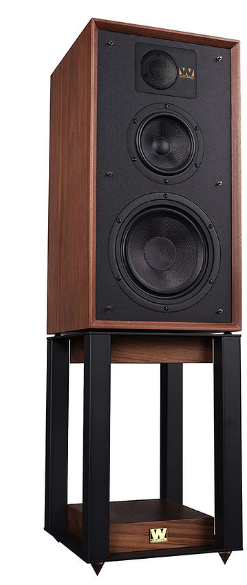 Wharfedale Linton loudspeakers with matching stands,