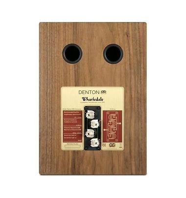 rear panel of the Wharfedale Denton loudspeakers,