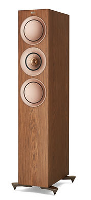 KEF R7 loudspeakers shown in walnut, the little audio company,