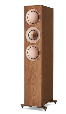 KEF R7 loudspeakers shown in walnut, the little audio company,