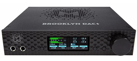 Mytek Brooklyn+ DAC shown in black, the little audio company,