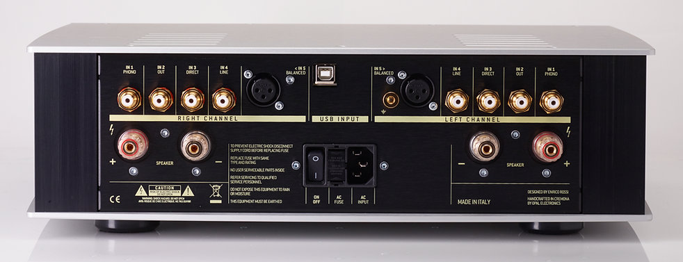 rear panel of the Norma Audio Revo IPA140 amplifier,