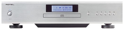 Rotel CD11 Tribute CD player shown in silver,