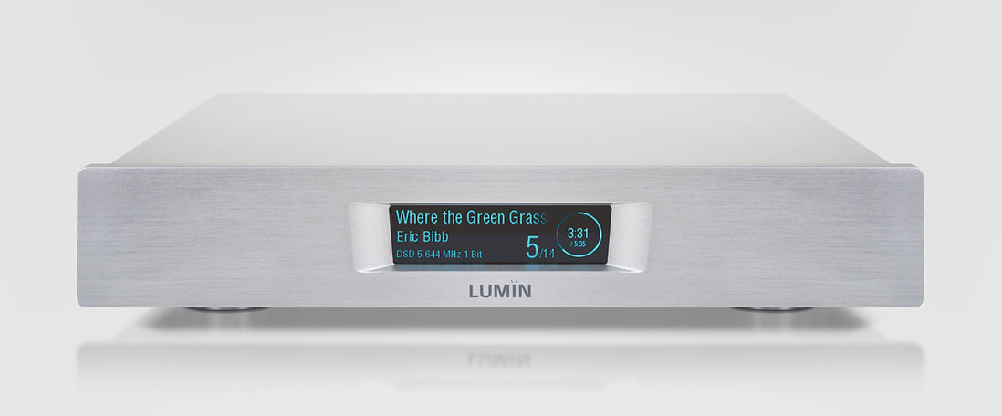 Lumin D2 music streamer in silver,