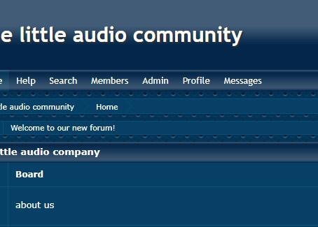 the little audio community
