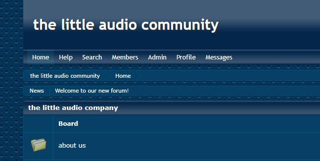 the little audio community forum