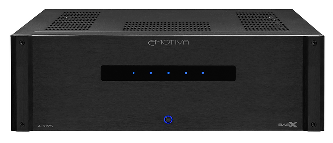 click here for more about the Emotiva BasX A5175 home theatre power amplifier,