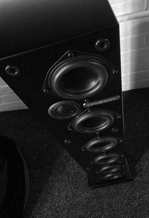 Ophidian Mambo loudspeakers, Ophidian speakers, floorstanding speakers, hi fi loudspeakers, tower speakers, slim speakers, compact floorstanders, the little audio company,