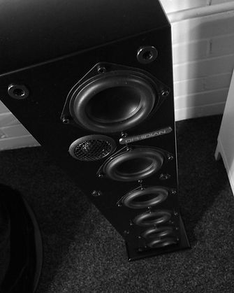 Ophidian Mambo speakers, Ophidian loudspeakers, compact speaker, floorstanding speaker, ophidian in Birmingham, ophidian at the little audio company, compact floorstander,
