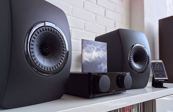 Cyrus One amplifier and KEF LS50 loudspeakers,