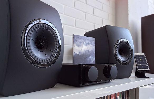Cyrus One amplifier and KEF LS50 loudspeakers,