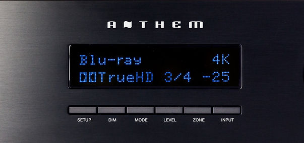 Anthem MRX-520 front display and controls,