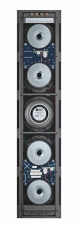 rear view of the KEF Ci5160 Reference THX in-wall speaker, the little audio company,