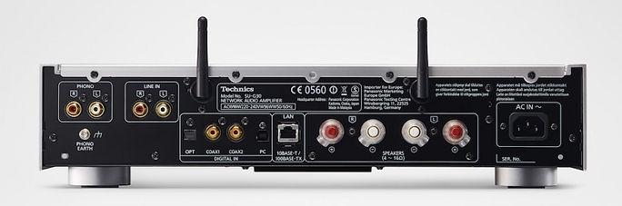 rear panel of the Technics SU-G30 Bluetooth amplifier,