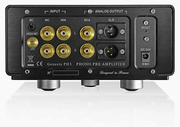 rear panel of the YBA Genesis PH1 phono pre-amplifier,