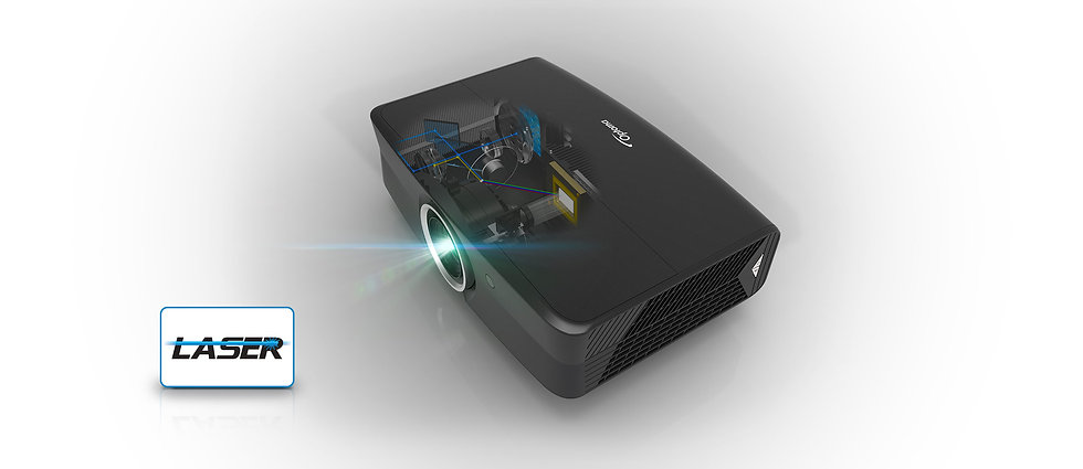laser projection, optoma uhz65 uhd projector,