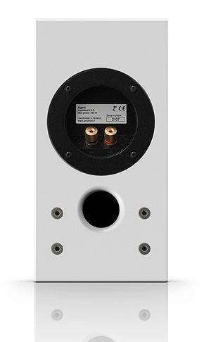 rear panel of the Amphion Argon 0 speaker,