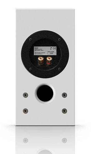 rear panel of the Amphion Argon 0 speaker,
