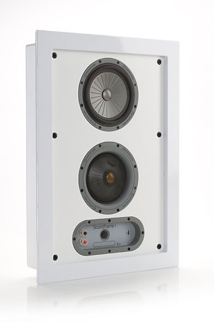 Monitor Audio SoundFrame speakers, wall mount speakers, discreet speakers, flat speakers, artwork grille, home theatre speakers, home cinema speakers, hifi loudspeakers, colour grilles,