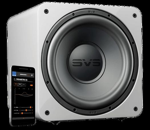 SVS SB1000 Pro subwoofer in gloss white,