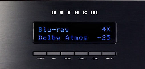 Anthem MRX-1120 front display and controls,