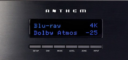 Anthem MRX-720 front display and controls,