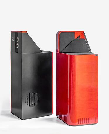 Larsen 9 loudspeakers in 'red',