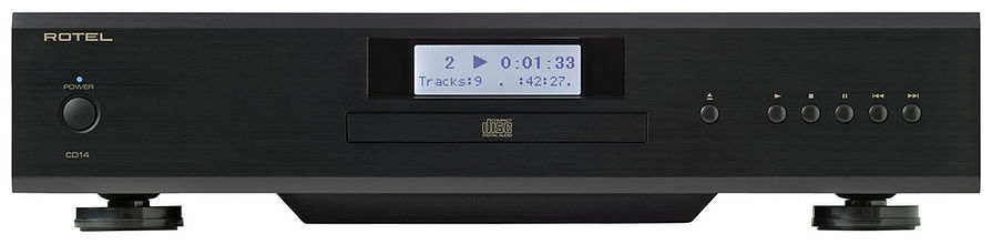 Rotel CD14 CD player shown in black,