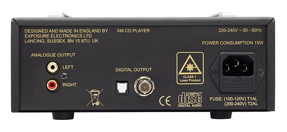 rear panel of the Exposure XM CD player,