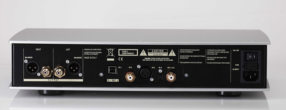 rear panel of the Norma Audio Revo DS1 digital player,