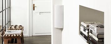 Cornered Audio C Series speakers, flexible speakers, discreet speakers, effects speakers, home theatre speakers, home cinema speakers,