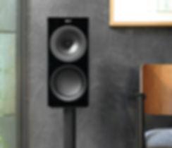 KEF R3 loudspeakers in black, KEF R Series in Birmingham, KEF in Birmingham, KEF in the Midlands, KEF at the little audio company in Birmingham,