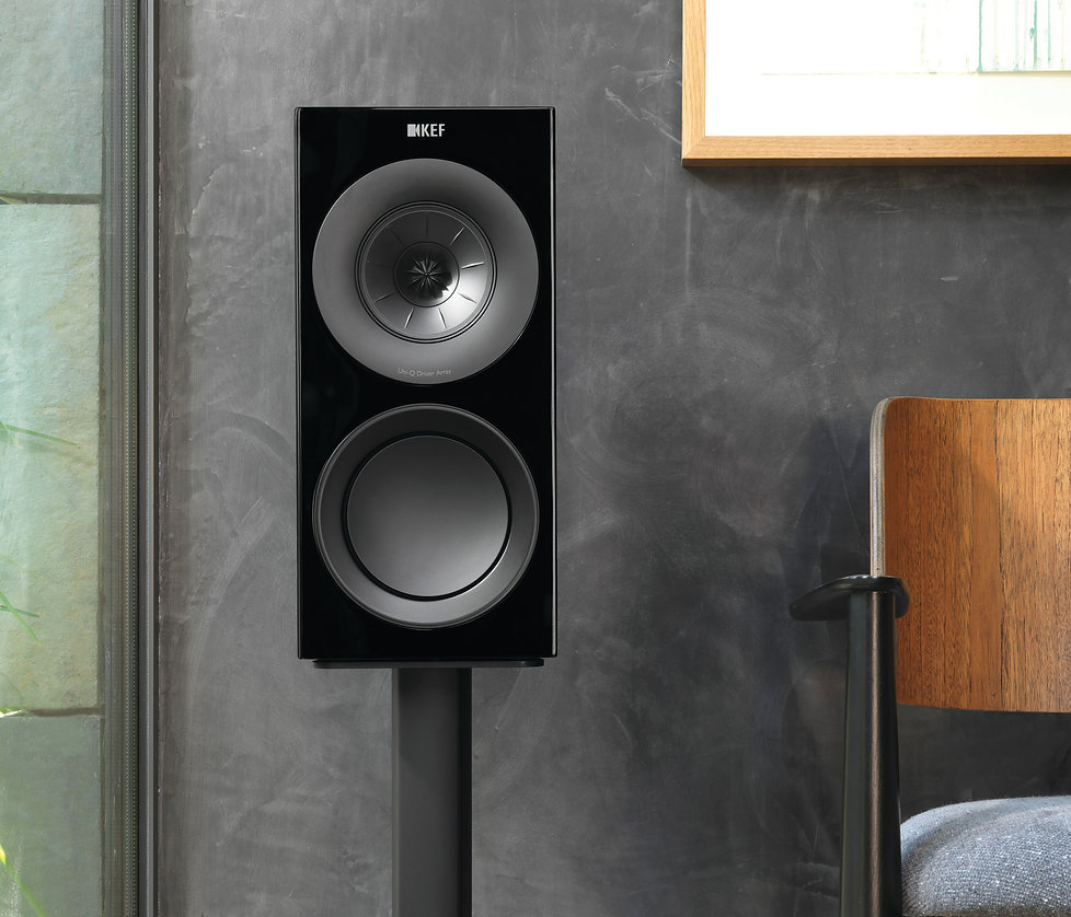KEF R3 loudspeakers in black, KEF R Series in Birmingham, KEF in Birmingham, KEF in the Midlands, KEF at the little audio company in Birmingham,
