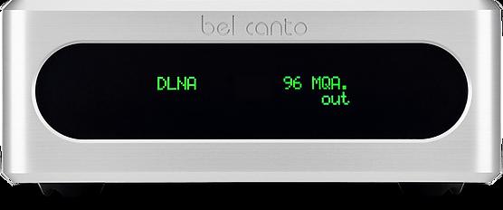 Bel Canto Stream music streamer in silver,