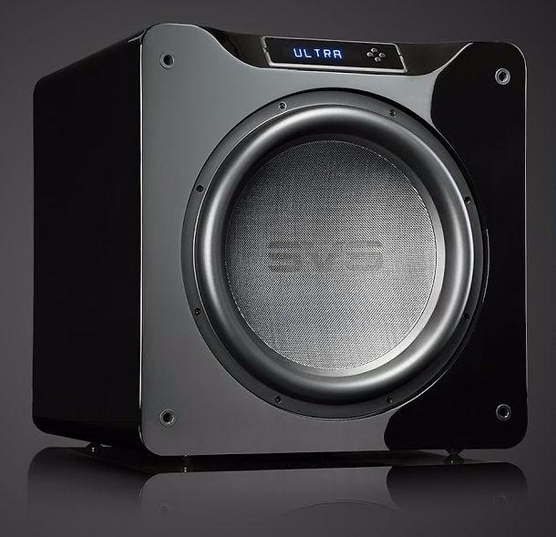 SV SB4000 home cinema subwoofer in Gloss Black,