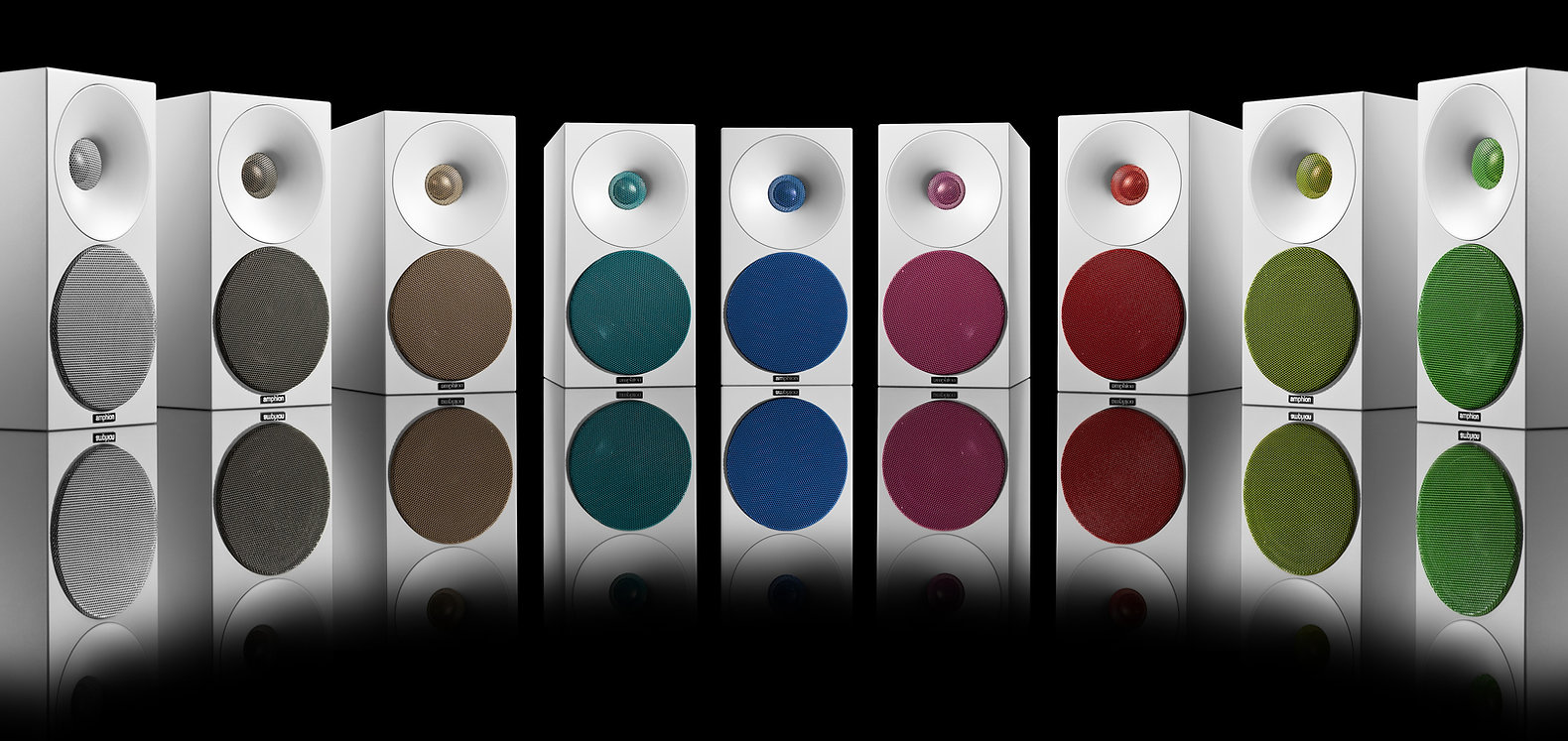 Amphion colour options, Amphion Argon 0 speakers, the little audio company,