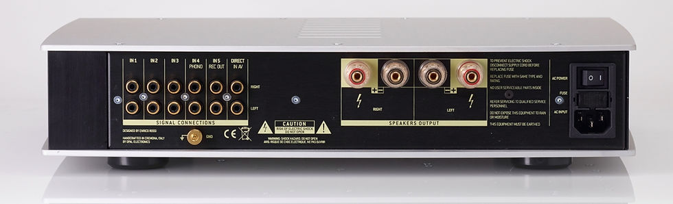 rear panel of the Norma Audio Revo IPA70 amplifier,