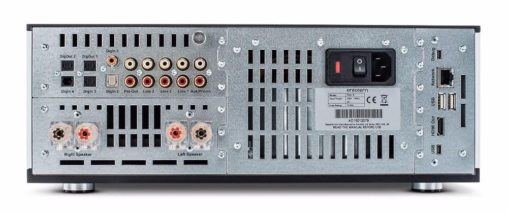 rear panel of the Convert Technologies Plato hi-fi system