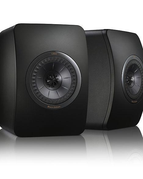 KEF LS50 Black Edition speakers, bookshelf speakers, compact speakers, UniQ array, KEF LS50 Black Edition loudspeakers, hi fi loudspeakers, the little audio company, KEF loudspeakers, KEF speakers, KEF in birmingham,