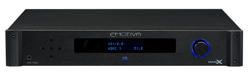 click here for more on the Emotiva MC-700 processor, the little audio company,