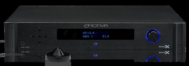 Emotiva MC700 with supplied microphone, Emotiva Emo-Q,