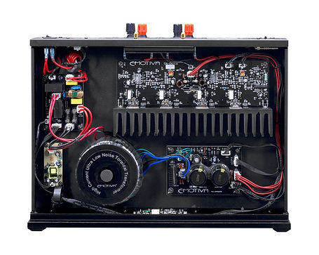 internal view of the Emotiva A-150 power amplifier, the little audio company,