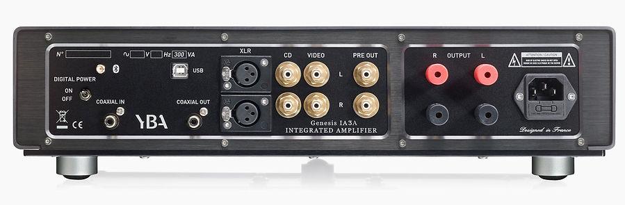 rear panel of the YBA Genesis IA3A amplifier,