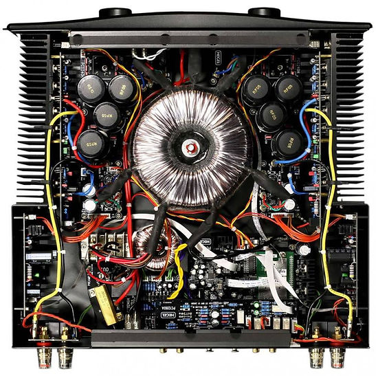 inside the Hegel H590 integrated amplifier,