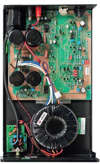 internal view of the Exposure XM9 monoblock amplifier,
