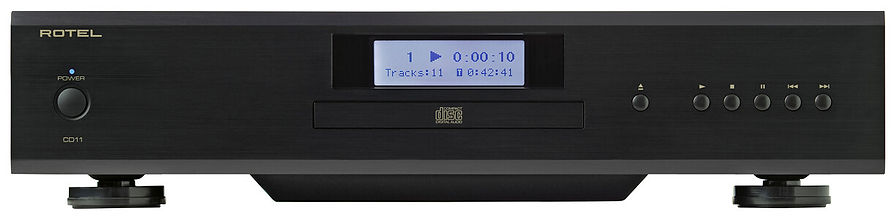 Rotel CD11 Tribute CD player shown in black,