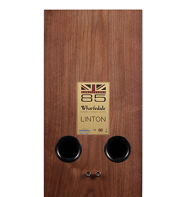 rear panel of the Wharfedale Linton loudspeakers,