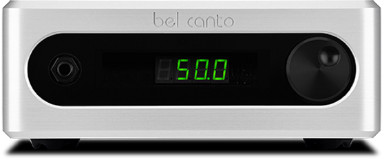 Bel Canto C5i integrated amplifier shown in silver,